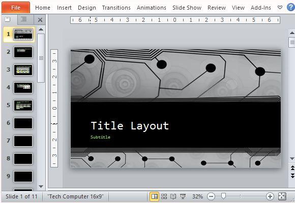 Free Widescreen Technology PowerPoint Template