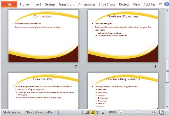 Professional Business Plan Template for PowerPoint - professional business plan