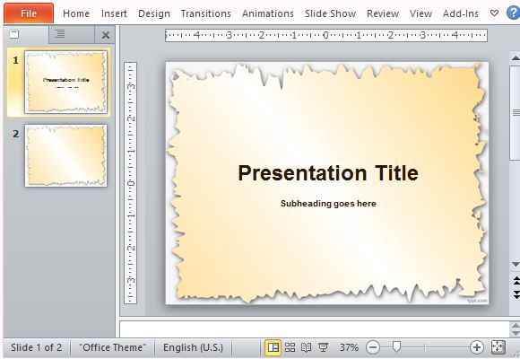 Free Picture Frame Templates for PowerPoint - history powerpoint template