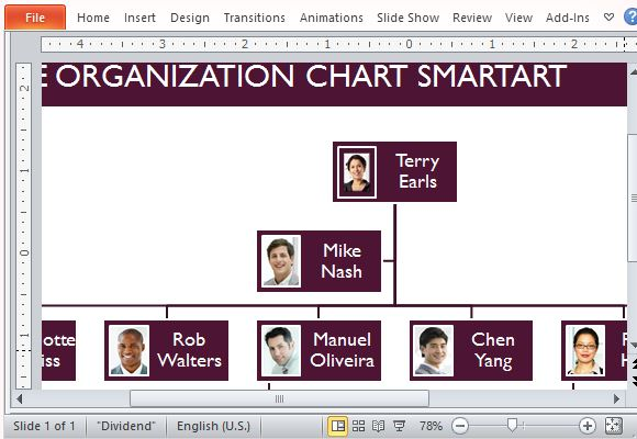 Free Organizational Chart Template for PowerPoint - company chart template