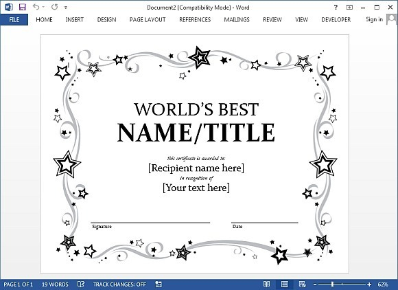 Best Certificate Templates for Word - Free Gift Certificate Template For Word
