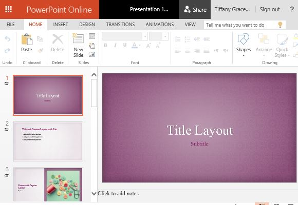 Pink Floral PowerPoint Template