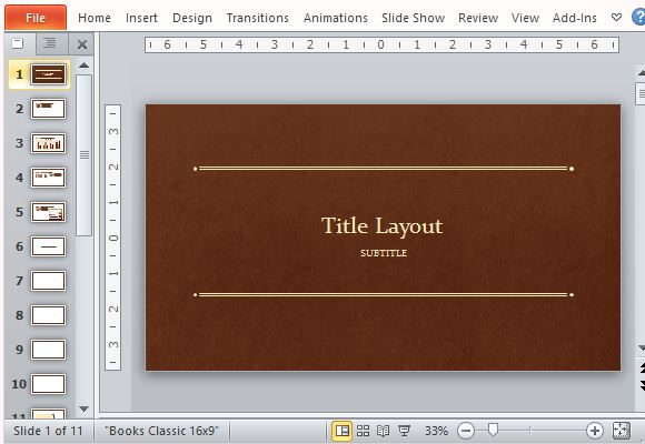 Classic Book PowerPoint Template