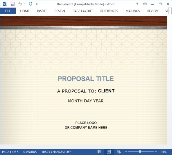 How to Create a Proposal for the Healthcare Industry Using MS Word - ms word proposal template
