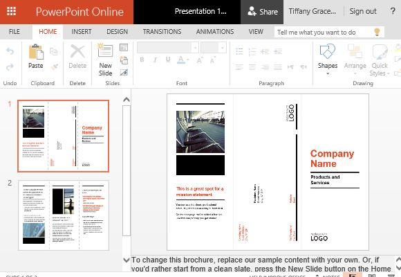 Business Brochure PowerPoint Templates