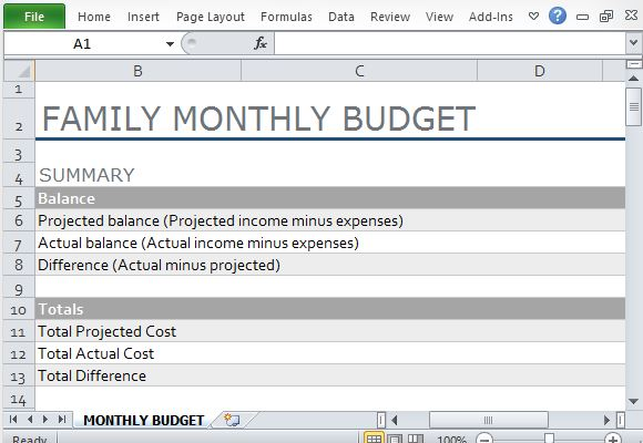 Household Budget Template Excel Household Budget Template Budgeting - free home budget program