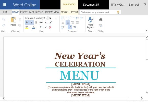 Event Menu Maker Template for Word - event menu template