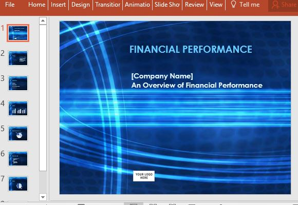 Financial Report PowerPoint Template - financial report templates