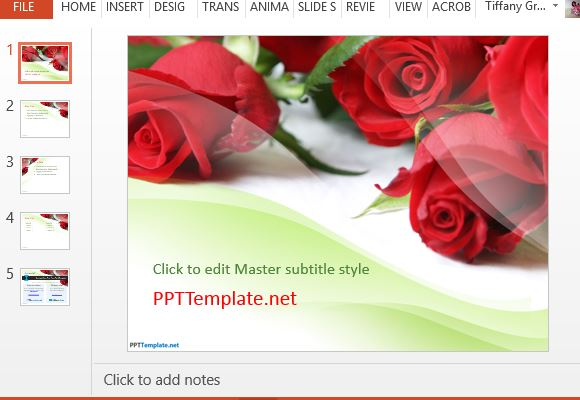 Free Rose PowerPoint Templates