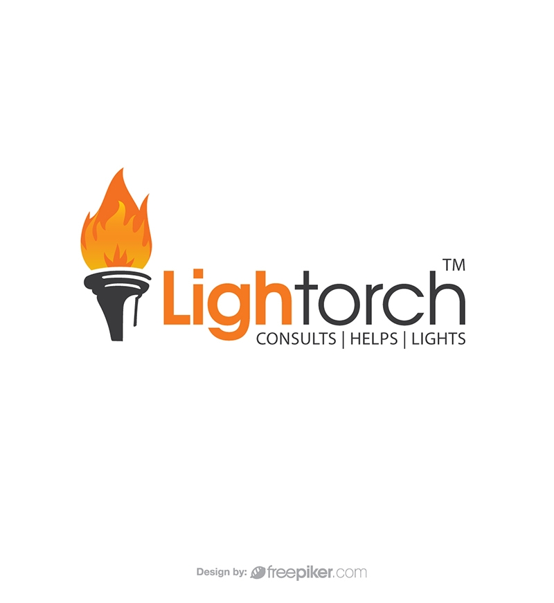Freepiker torch lighting flame logo - flame logo