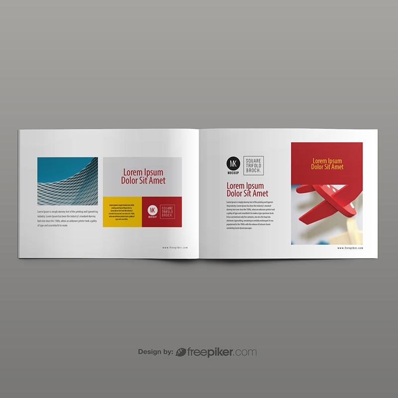 Freepiker landscape brochure mockup