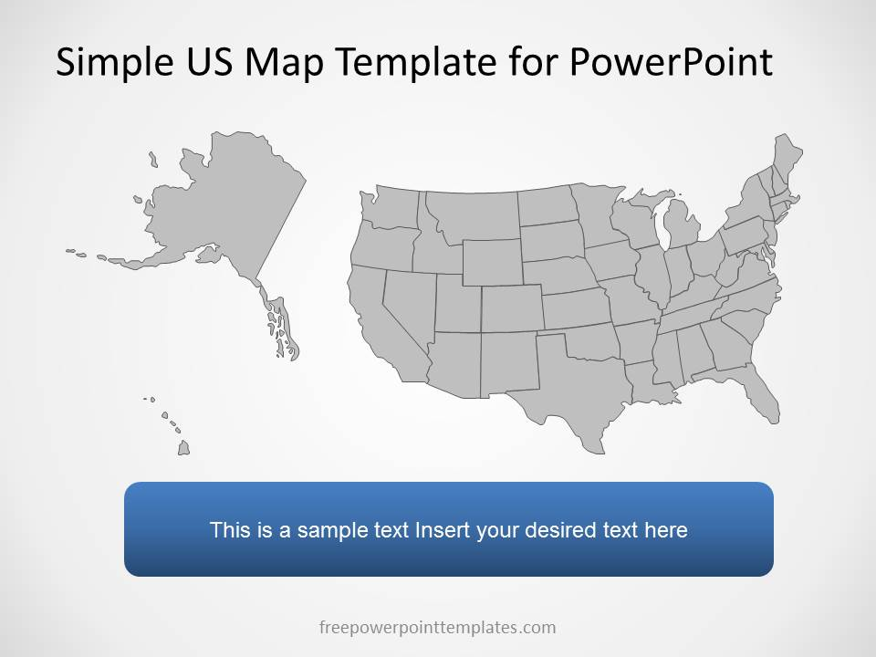united states map powerpoint template - Kenicandlecomfortzone - free editable us map
