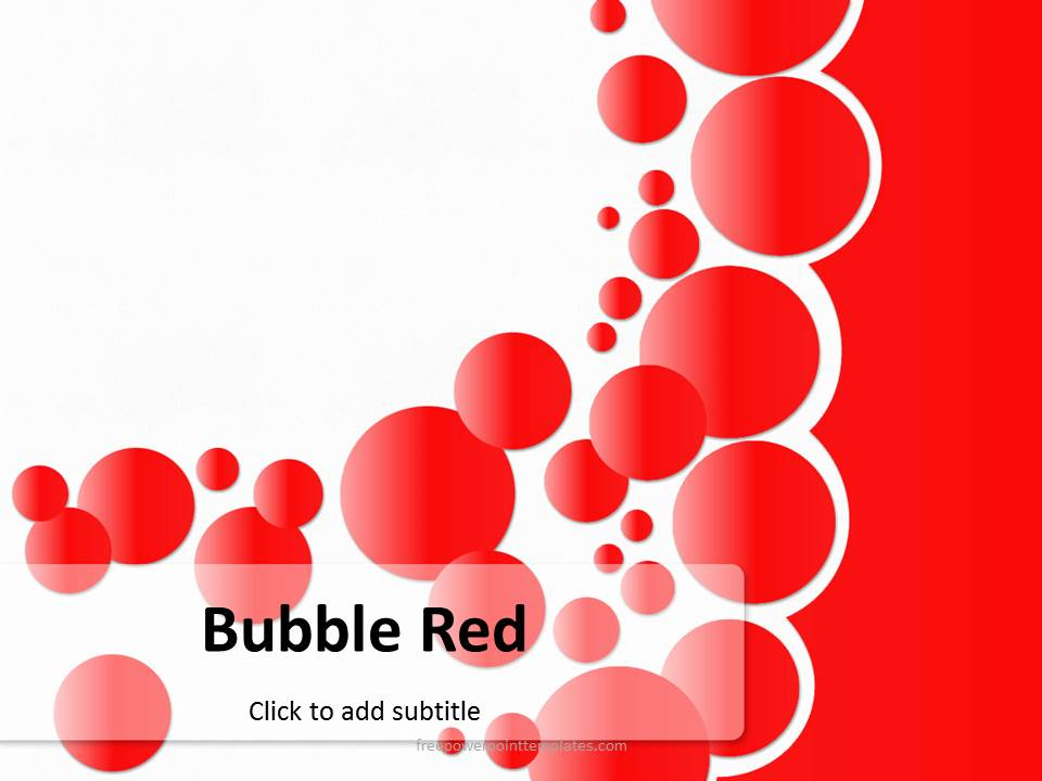 Free PowerPoint Templates - bubbles power point