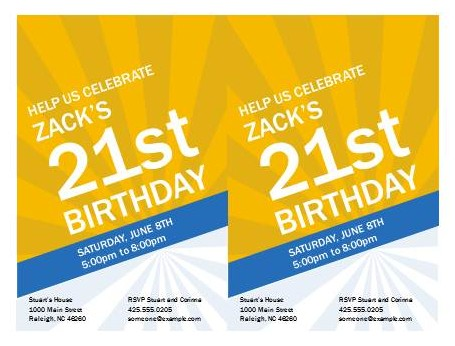 Free Birthday Invitation Template - Free PowerPoint Templates