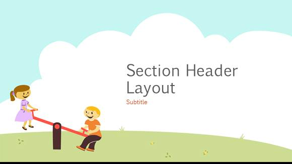 Free Elementary School Playground Template - Free PowerPoint Templates - ppt background school