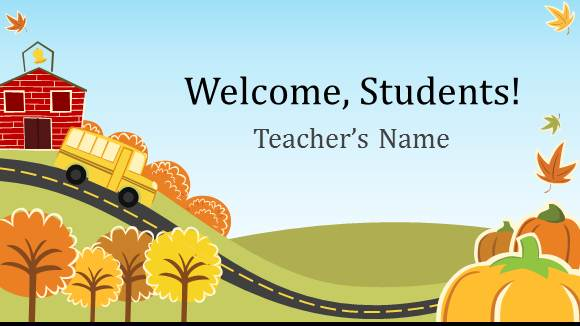 Free Elementary School Teacher Template for PowerPoint Online - Free