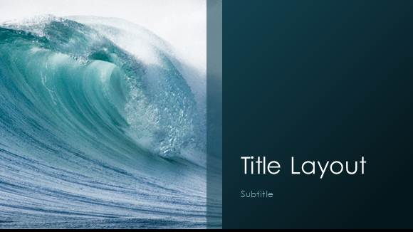 Free Waves Template for PowerPoint Online - Free PowerPoint Templates