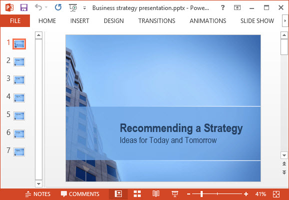Free Business Strategy PPT Template - Free PowerPoint Templates