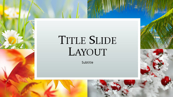 Free Seasons Template for PowerPoint Online - Free PowerPoint Templates