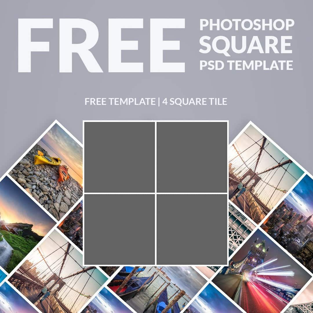 Collage Fotos Free Photoshop Template Photo Collage Square Download Now