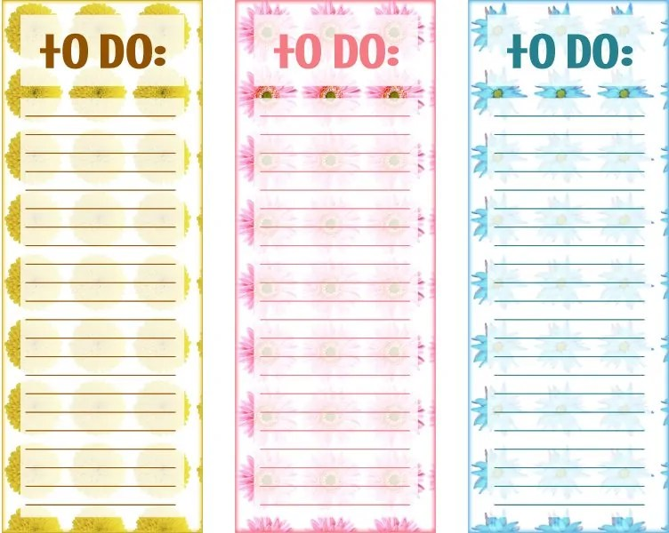 Multi Floral Printable To Do Lists Free Printables Online