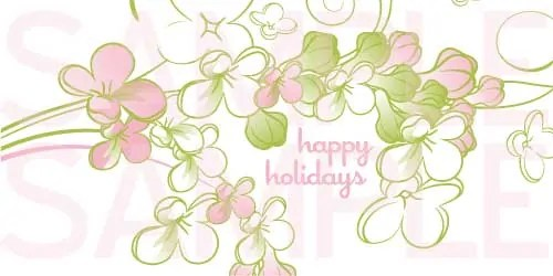 Pink and Green Floral Holiday Card Free Printables Online