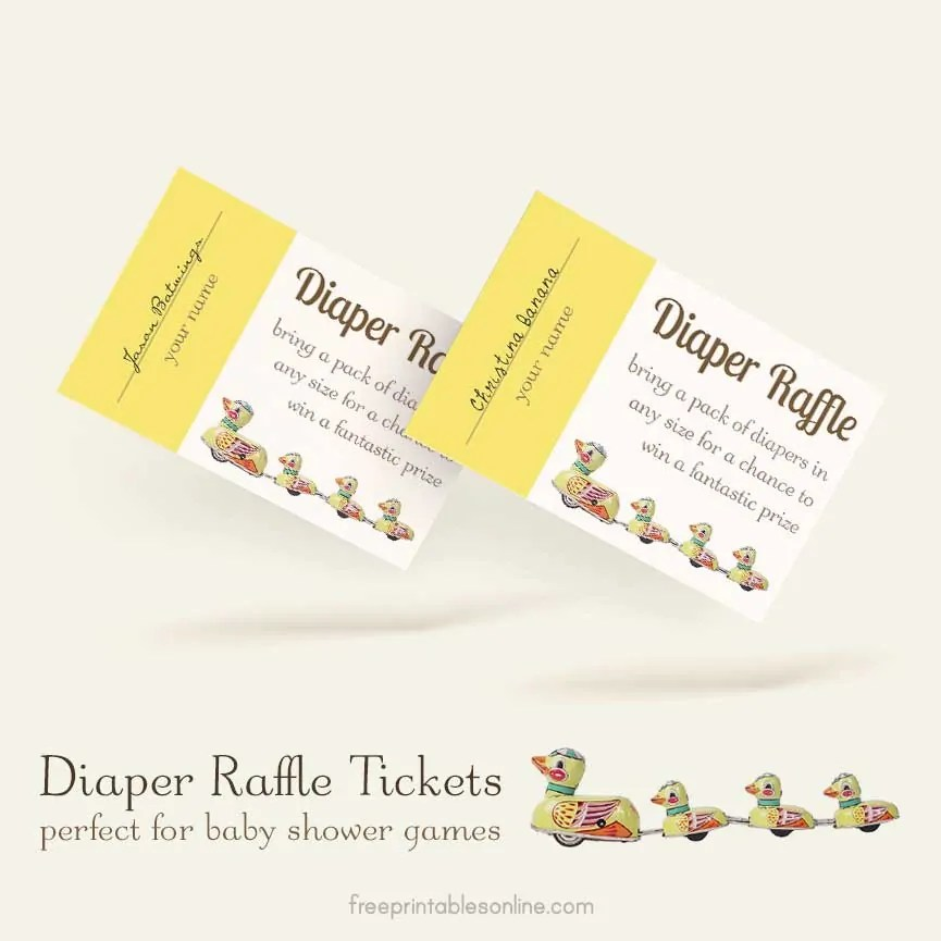 Free Printable Diaper Raffle Ticket Template Free Printables Online
