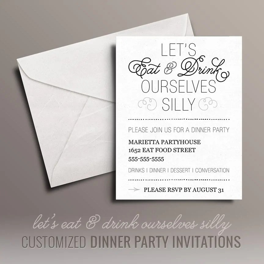 Eat and Drink Free Dinner Party Invitations Free Printables Online - free dinner invitations