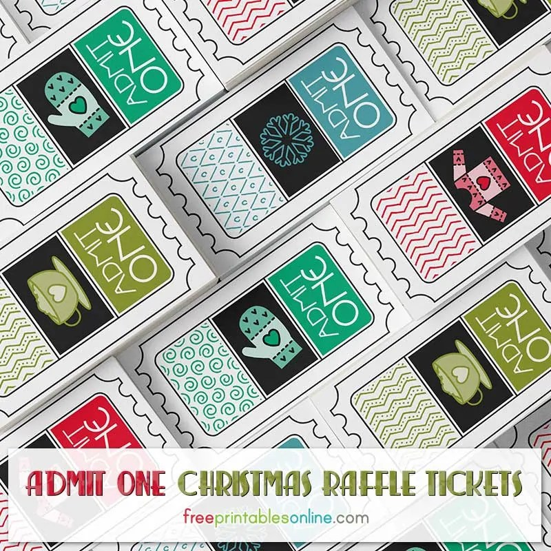 Free Christmas Raffle Tickets to Print - Free Printables Online