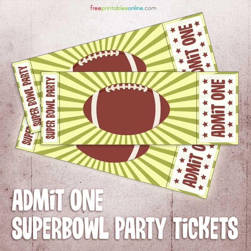 admit ticket template free