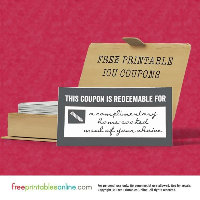 This Coupon is Redeemable for - Free Printables Online