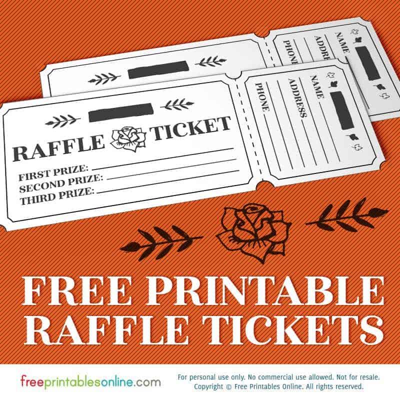 Printable Rosy Raffle Tickets Free Raffle Template Free