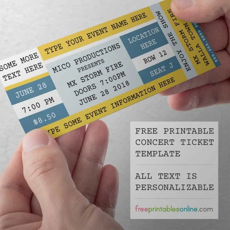 Free Printable Concert Tickets - Free Printables Online