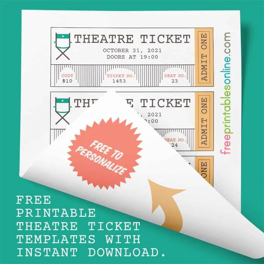 Free Theatre Ticket Template - Free Printables Online