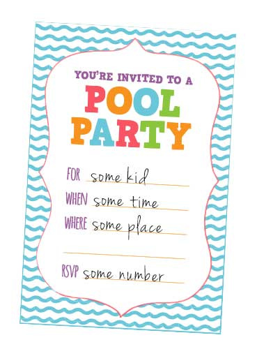 Free Printable Kids Pool Birthday Party Invitation \u2013 orderecigsjuice - online invitations templates printable free