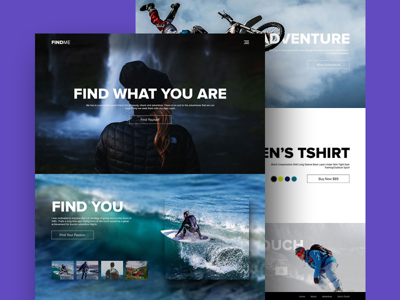 Free Adventure and Sports Website Template PSD at FreePSDcc