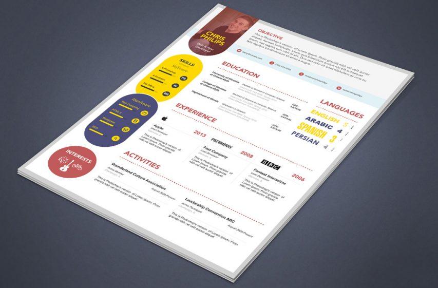 Free Creative Web Designer Developer Resume Template PSD at FreePSDcc