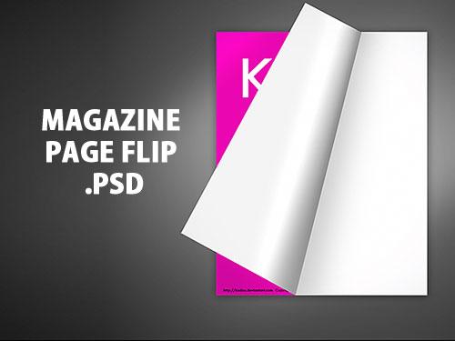 Free Magazine Page Flip PSD at FreePSDcc