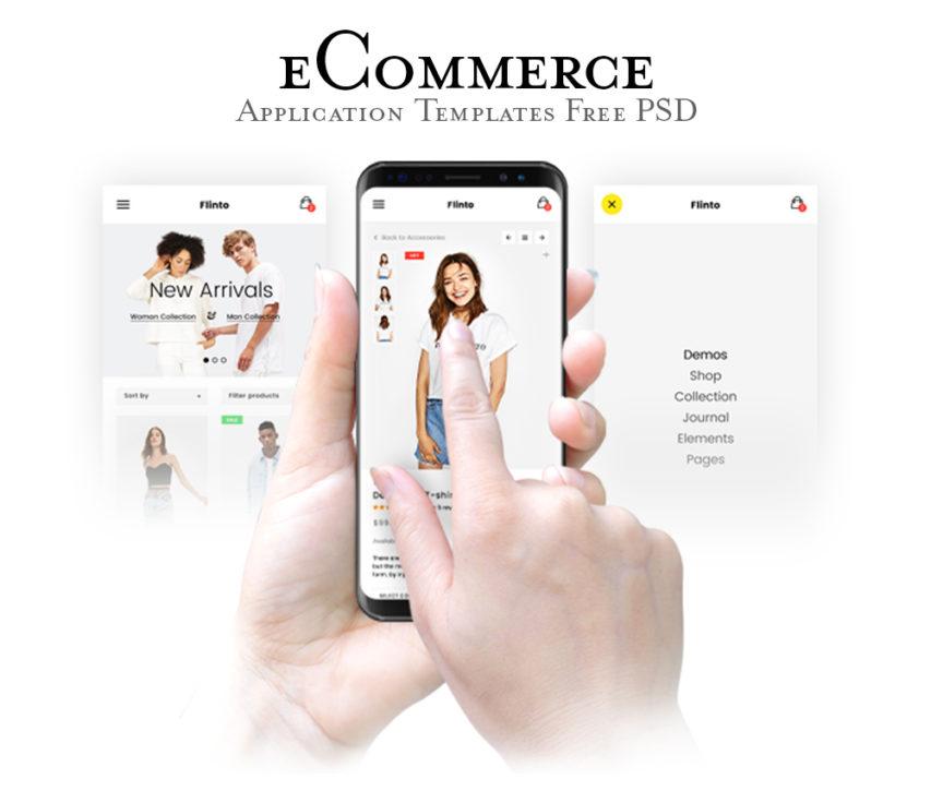 Free eCommerce Website App Templates PSD at FreePSDcc
