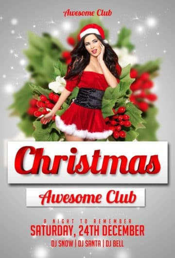 Download Free Christmas Flyer PSD Templates for Photoshop