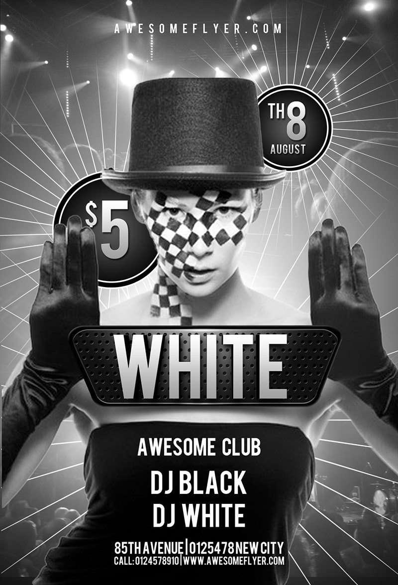 birthday club flyer template