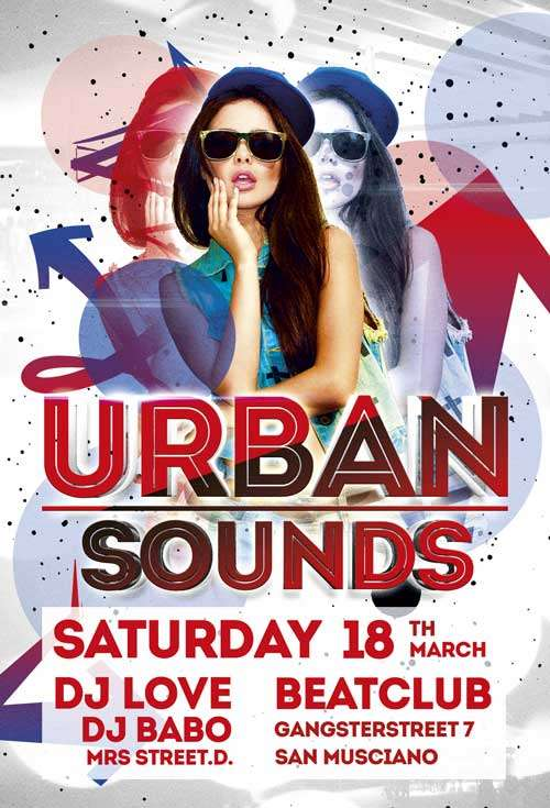FreePSDFlyer Free Urban Sounds Party Flyer Template - Download