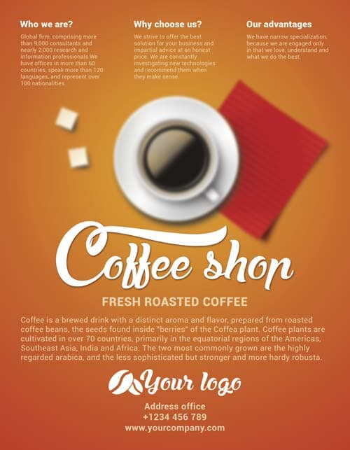 Coffee Shop Brochure Template Cafe Flyer Template Awesome Flier Or - propaganda poster template