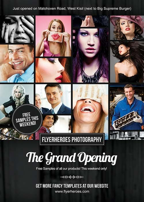 FreePSDFlyer Download Free Grand Opening Photography Flyer Template - Photography Flyer