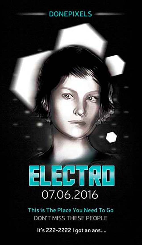 Download Free Electro Flyer PSD Template for Photoshop - Freebies