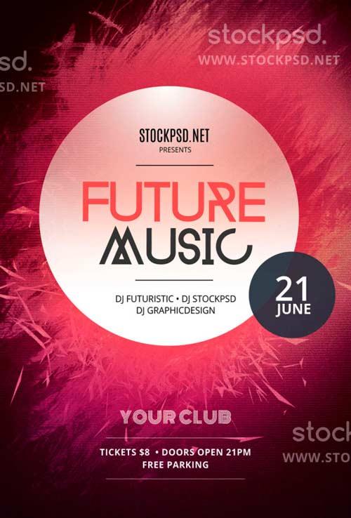 FreePSDFlyer Download Future Music Free PSD Flyer Template for - music flyer template