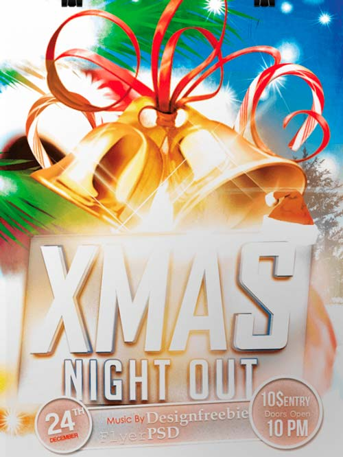 parents night out flyer template xv-gimnazija