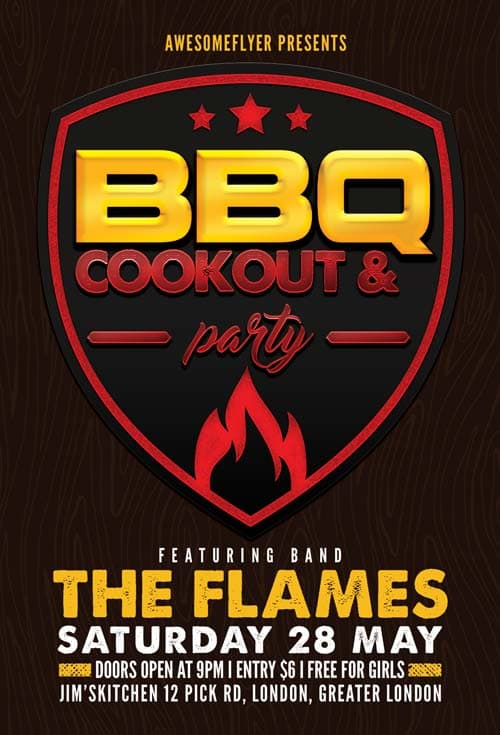Download BBQ Cookout Free Flyer Template - bbq flyer