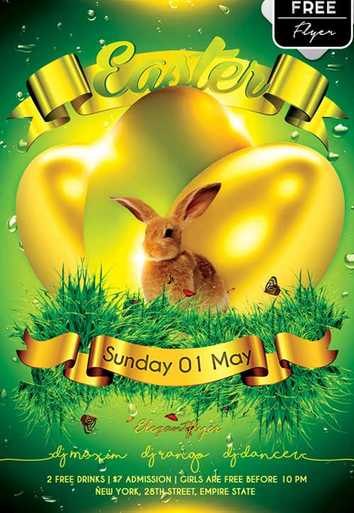 Download Easter Party Free PSD Flyer Template