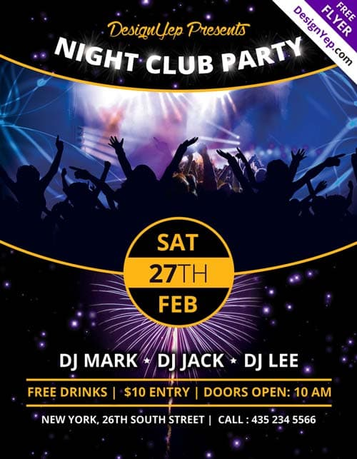 nightclub poster - Klisethegreaterchurch - create club flyer online free